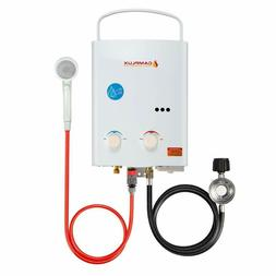 Camplux 5L 1.32 GPM Outdoor LPG Propane Gas Tankless Water H