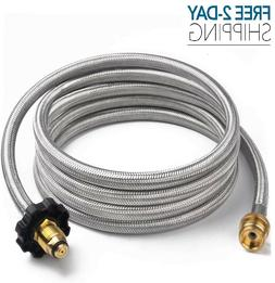 SHINESTAR 10FT Braided Propane Adapter Hose for Mr.Heater Bu