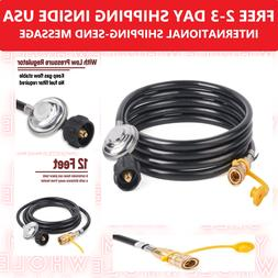 12 FT Propane Regulator Hose For Mr. Heater Big Buddy with 3