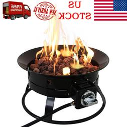 19-Inch Firebowl Outdoor Portable Propane Gas Fire Pit&Heate
