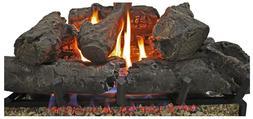 24 in. Vent Free Propane Gas Fireplace Logs Insert Adjustabl