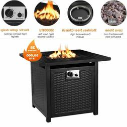 "28"" Propane Gas Fire Pit  Table 50000 BTU Outdoor Courtyard"