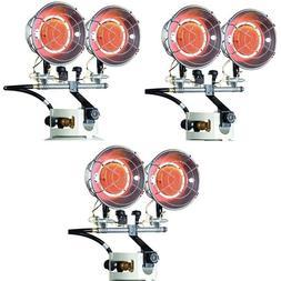 ea Mr Heater F242650 8000-30000 Btu 2 Burner LP Propane Tan