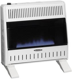 30,000 BTU Blue Flame Dual-fuel Wall Heater with Blower Incl