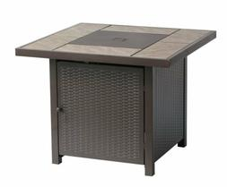 """32"""" Propane Fire Pit Patio Heater Wicker look stamped Outdoo"""