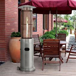 34000 BTU LP Stainless Steel Round Glass Tube Patio Deck Out