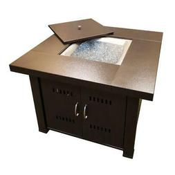 AZ Patio Heaters 38 in. Steel Firepit in Bronze + Cover Outd