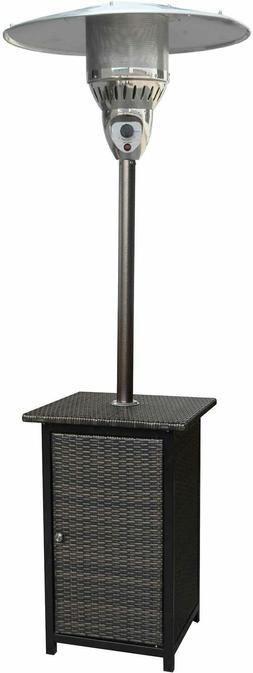 Hanover Outdoor 7-Ft. 41,000 BTU Square Wicker Propane Patio