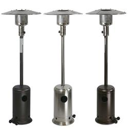 48000 BTU Standing Propane Patio Heater Stainless Steel / Br
