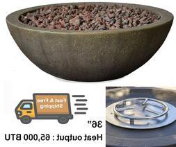 "Bond Manufacturing 36"" Inch Mondavi Premium Faux Concrete/Ce"