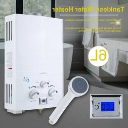 6L Tankless Gas Water Heater Propane Gas LPG 2 GPM Outdoor R