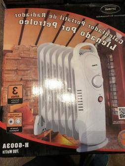 Optimus 700-Watt Electric Portable Oil-Filled Radiator Heate