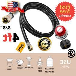 Adjustable Propane Tank Adapter Regulator Hose Gas Grill Bur