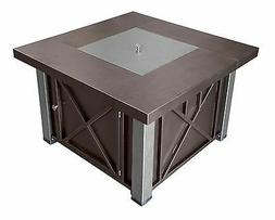 AZ Patio Heaters Fire Pit, Propane in Decorative Bronze and