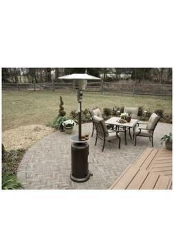 Hiland Bronze Propane Patio Heater w/Table HLDS01-CG 48000 B