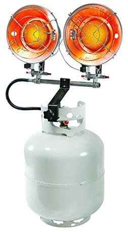 PowerGear Contractor Grade Radiant Double Burner Propane Tan