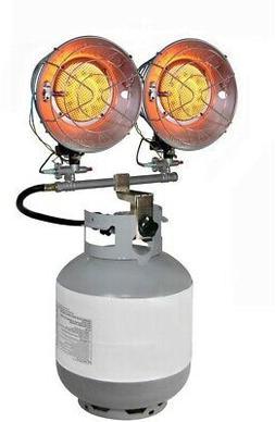 Dyna-Glo Portable Heater Double Burner 30,000 BTU Radiant Ta
