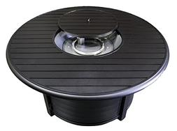 Hiland F-1350-FPT Extruded Aluminum Round Slatted Fire Pit,