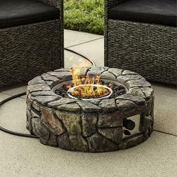 Fire Gas Pit Outdoor Propane Patio Heater Fireplace Cover De