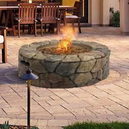 Fire Pit Outdoor Propane Gas Patio Backyard Deck Fireplace H