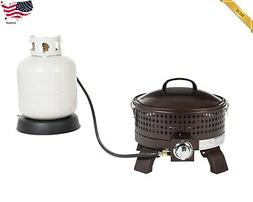 Fire Sense Portable Gas Fire Pit, Outdoor;Backyard ;Beach Ca