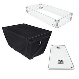 Outland Fire Table 3 Piece Rectangle Accessory Set - Tempere