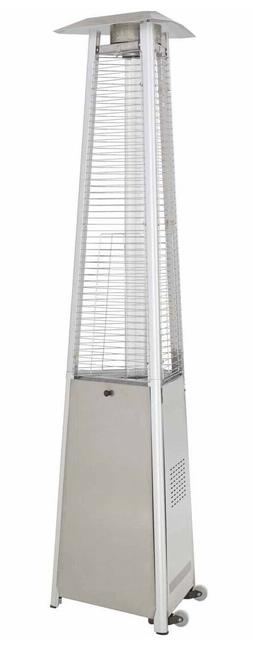 Glass Tube Heater Triangle Tall Commercial Stainless Steel