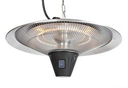 """1500 Watt Hanging Outdoor Electric Heater Halogen 20"""" Diamet"""