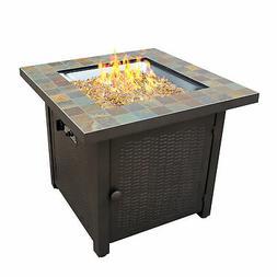 AZ Patio Heaters Hiland 30 Inch Square Slate Tile Top Propan