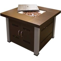 Hiland Fire Pit Hammered Bronze and Stainless Steel Finish ,