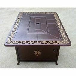 AZ Patio Heaters Hiland Scroll Design 49.5 in. Fire Table