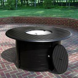 hiland slatted 46 diam fire table
