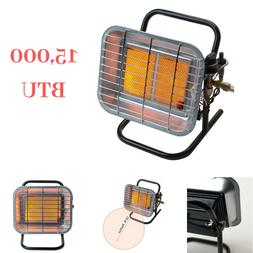 Indoor Propane Space Heater Portable 15,000 BTU Adjustable H