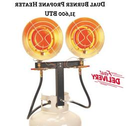 Indoor Outdoor Dual Burner Propane Heater 31600BTU Infrared