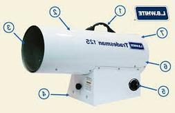 Tradesman L.B. White 125 LP Portable Forced Air Heater - 70-