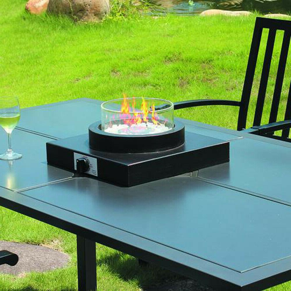14 propane gas fire bowl tabletop stainless