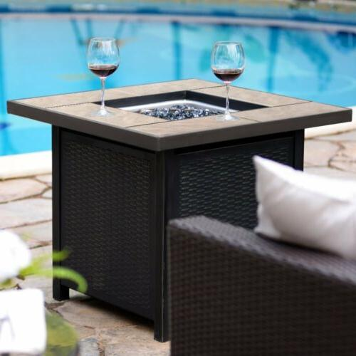 """32"""" Patio Heater stamped Outdoor Table"""