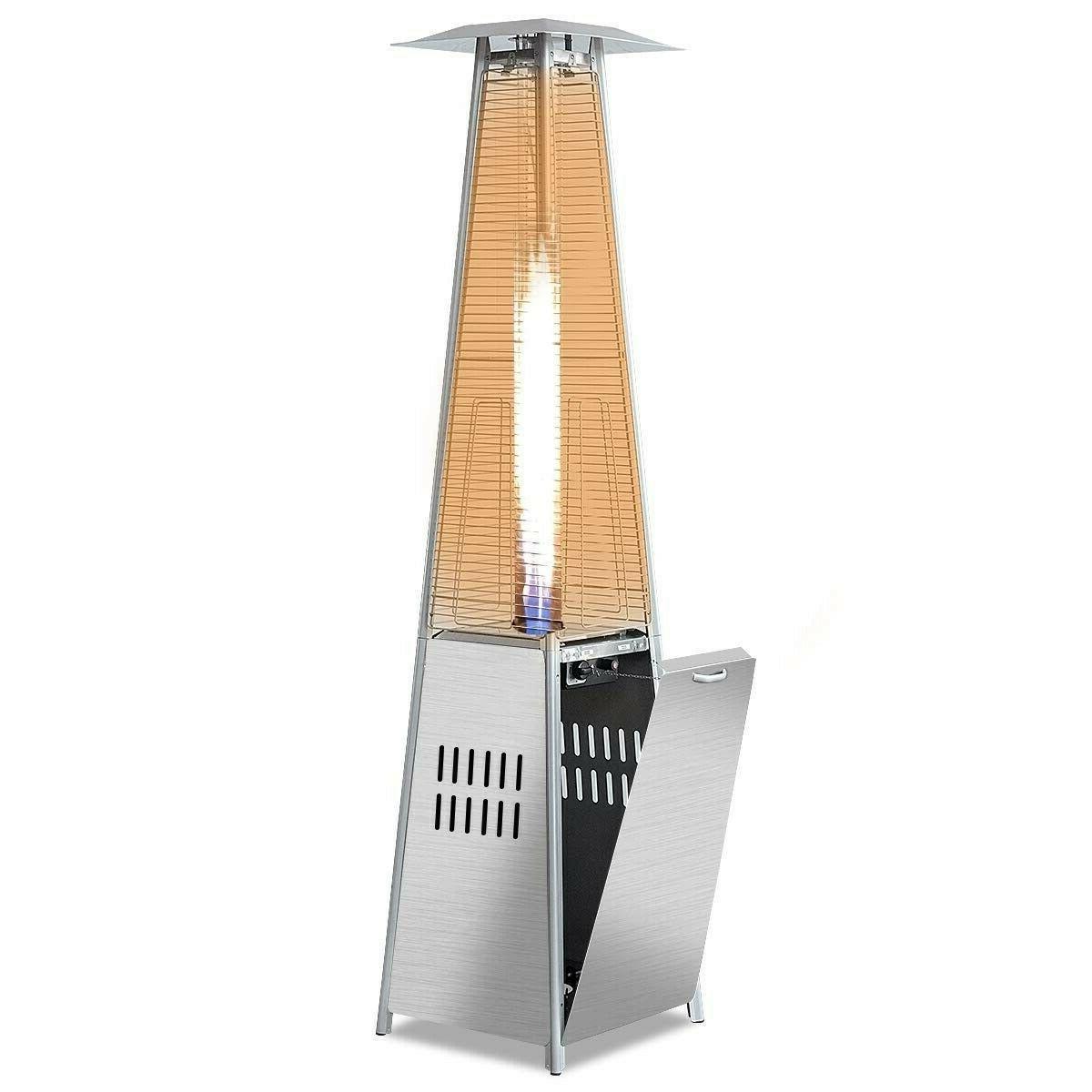 40000 btu stainless steel pyramid patio heater