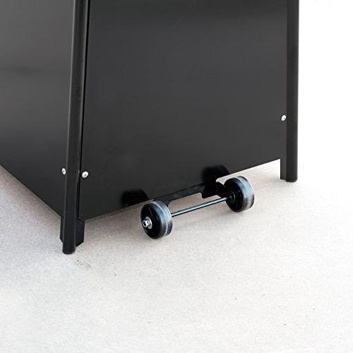 Belleze© 42,000BTU Patio Heater Dancing Flame - Black