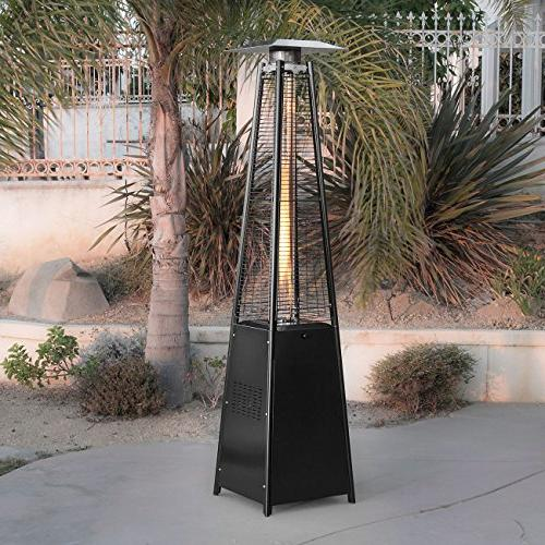 Belleze© Deluxe Patio Pyramid Flame Black