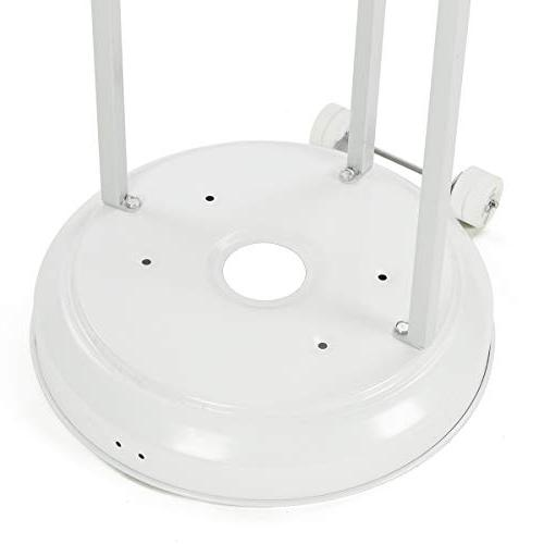 PAMAPIC 46,000BTU Standup Heater Set Certified, Hammered White,