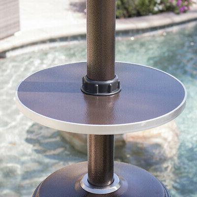 48,000 BTU Outdoor Patio with Adjustable Table Wheel