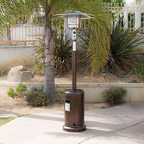 Belleze Premium Patio with LP Propane Certified, Hammered Bronze