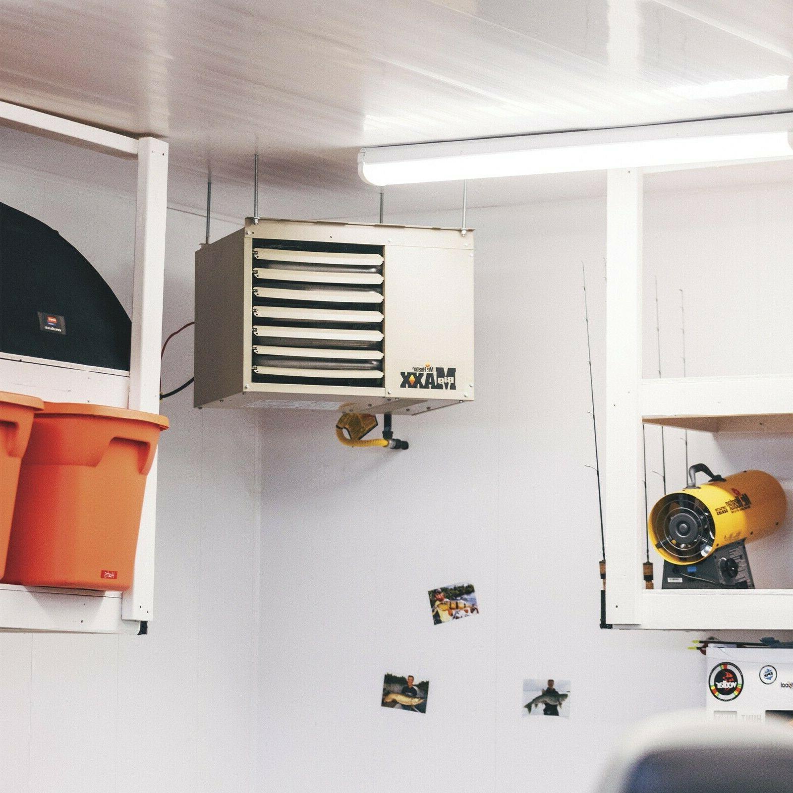 80000 BTU Natural Gas Garage Unit Heater Spark Ignition Space Warmer