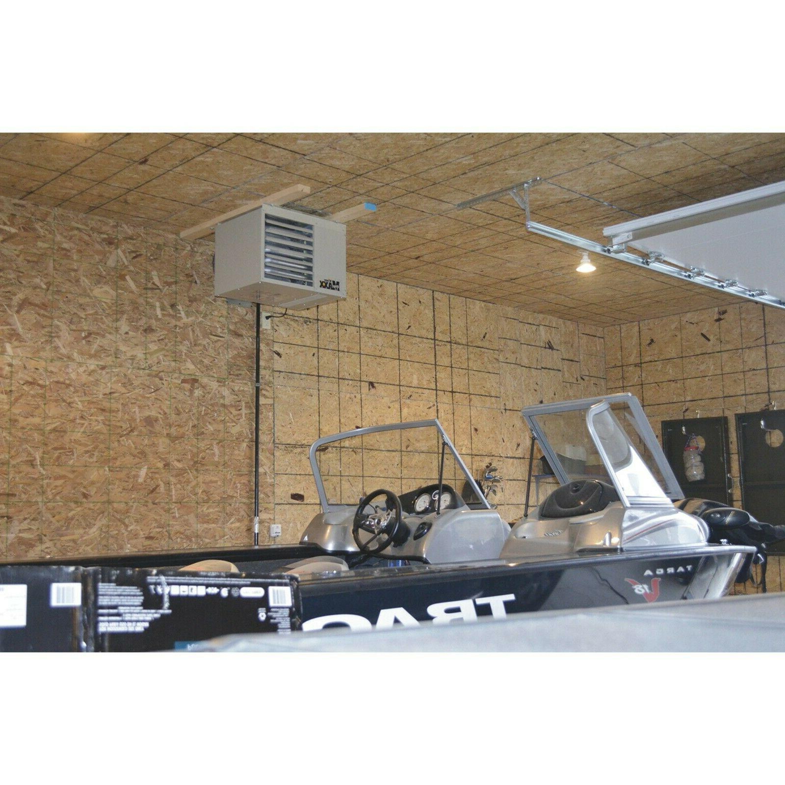 80000 BTU Natural Gas Garage Workshop Unit Heater Spark
