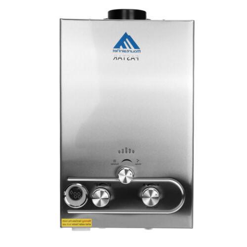 8L Tankless Water Heater Boiler Propane Steel Panel Head