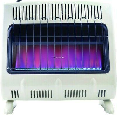 Mr. Heater Vent-Free 30,000 BTU Blue Flame Propane Heater On