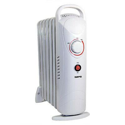 Optimus - Mini Oil-filled Portable Radiator Heater - White