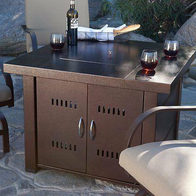 antique bronze 38 in fire table