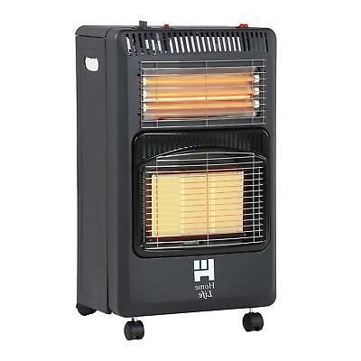 Black Cabinet Heater Dual Purpose Propane and Electric Folda